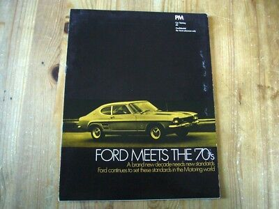 Extremely rare: 1969 Ford salesman's brochure on the Ford Capri & range, superb
