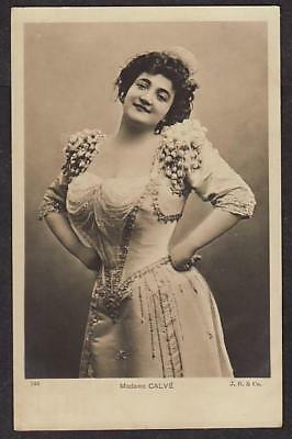 Real Photo Postcard Emma Calve French Operatic Soprano Opera Singer Used 1904