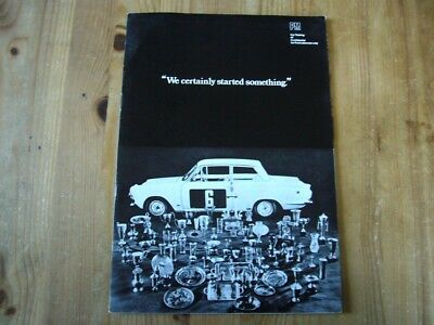 Extremely rare: 1969 Ford salesman's brochure on Ford Cortina Escort Corsair GTs