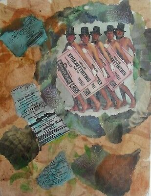 Wandbild Abstrakt Collage Handarbeit Unikat ca. 30x23 cm