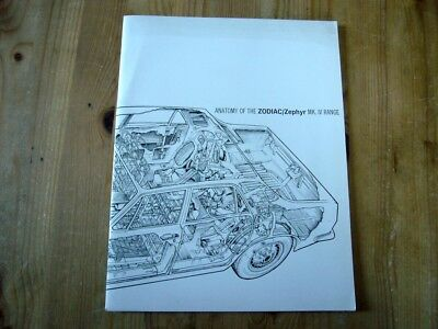 Extremely rare: 1968 Ford Zephyr/Zodiac MkIV press booklet, 1966, excellent orde