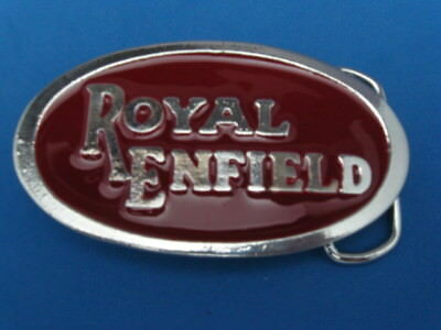 New Old Stock Royal Enfield Pewter Style Metal Belt Buckle Made In Usa
