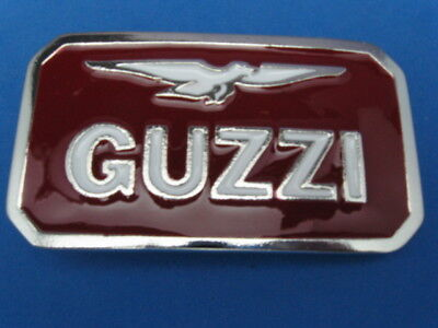 New Old Stock Moto Guzzi Pewter Style Metal Belt Buckle Made In Usa