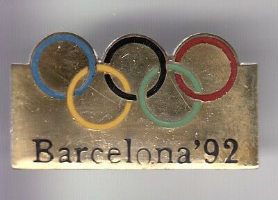 Rare Pins Pin's .. Olympique Olympic Barcelone Barcelona 1992 Cio + N° Or 3D ~18