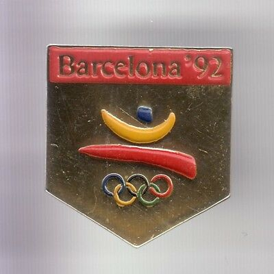 Rare Pins Pin's .. Olympique Olympic Barcelone Barcelona 1992 Logo Or 3D ~18