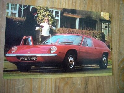 Lotus Europa on Wheel Of Fortune prize draw postcard, 1969, very rare, excellent