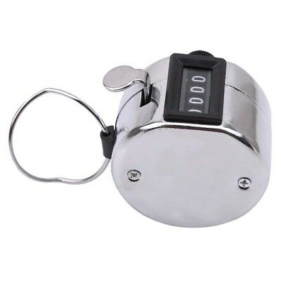 4 Digit Counting Manual Hand Tally Number Counter Mechanical Click Clicker Z