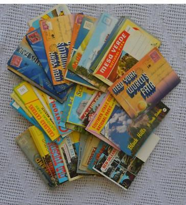 Estate Lot Of 64 Postcard Folders 1940-1960 Keokuk Starved Rock Bermuda Islands+