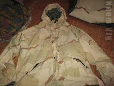 ORIGINAL NIGHT DESERT CAMO FIELD RAINPROOF SIZE LARGE,Very Good