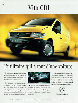 Publicité Advertising 088   2002   Mercedes-Benz   Vito cdi utilitaire