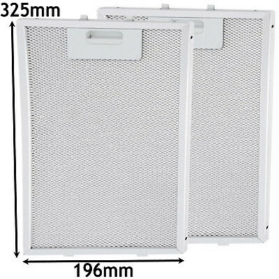2 x ELECTROLUX Metal Oven Cooker Hood Extractor Fan Vent Grease Filter 325x196mm