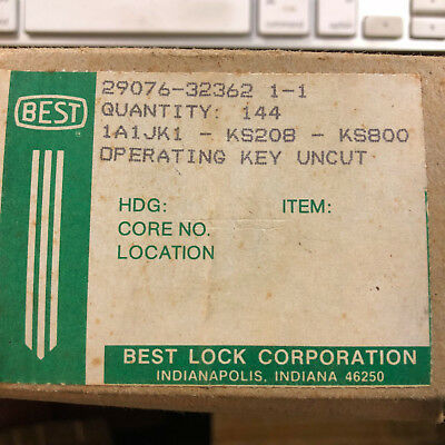 20 Unused Best Lock Co. Brass Operating Key Blanks- Old Locksmith Stock