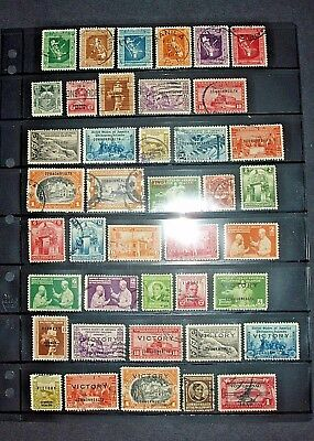 SB1 Stamps - Nice Two Page Lot of Assorted Philippines Issues; Sc. 425//U35