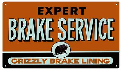 Reproduction Motor Oil and Service Station Brake Service Sign