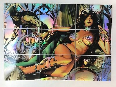 WARLORD OF MARS (Breygent) Complete DEJAH THORIS PUZZLE FOIL Chase Card Set (9)