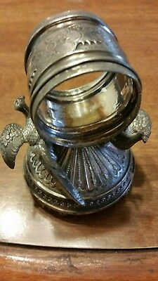 Victorian Silver Plated Napkin Ring Two Pheasants Meriden SPC #271