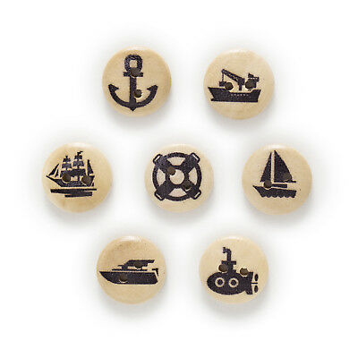50pcs Sailing tools 2 Hole Wood Buttons Sewing Scrapbooking Clothing Decor 15mm