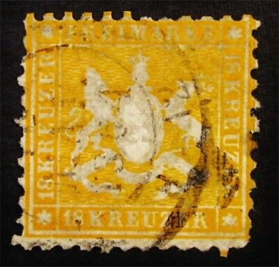 nystamps German States Wurttemberg Stamp # 40 Used $400