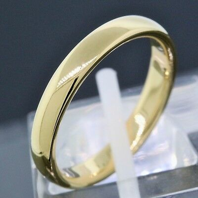 1999 Tiffany & Co. 18K Yellow Gold 3MM Wide Wedding Band Ring Size 5.5
