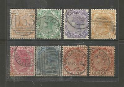 Mauritius  Qv  Early Selection  X  8 Used