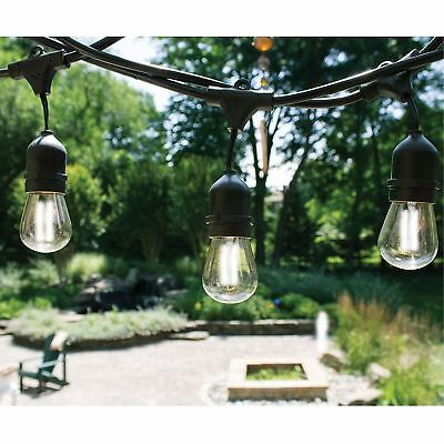 48FT Outdoor Waterproof Commercial Grade Patio Globe  LED String Lights Bulbs