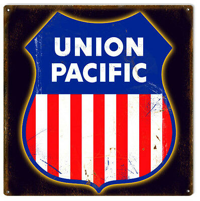 Reproduction Union Pacific Herald Sign 12X12
