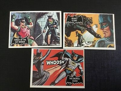 1966 Topps Batman Black Bat   Lot X 3 No.31,33,34 Exmint Or Better