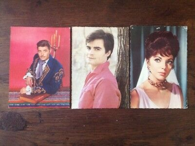 3 Cartes Postales Anciennes Guy Williams Joan Collins Jean-Claude Drouot Télé TV