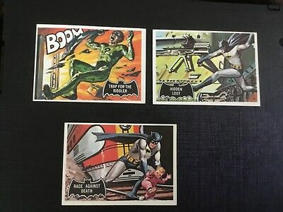 1966 Topps Batman Black Bat   Lot X 3 No.45,53,55