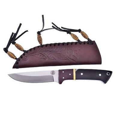 Frost CW4762BH Chipaway Hunter Satin Fixed Blade Knife Drop Point  + Sheath