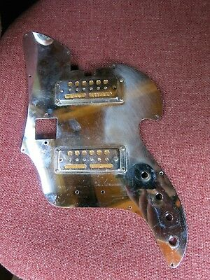 VINTAGE PAIR OF 1960's TEISCO ELECTRIC GUITAR GOLDFOIL PICKUPS HARMONY GOLD FOIL
