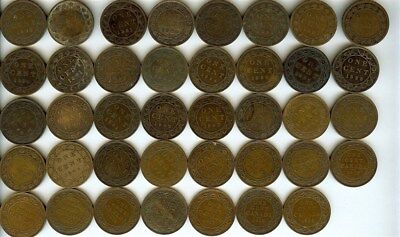 Canada 1859-1920 Large Cents Nice 39 Coin Collection