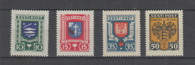 Estonia 1936 Charity. Social Relief Fund Set MH SG108-111