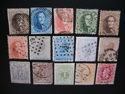 Belgium-1865/85 Collection of 22 Stamps Used