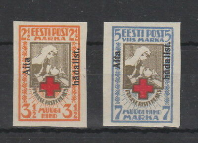 Estonia 1923 ,Charity Imperf Set MNH , Signed SG 49A,50A