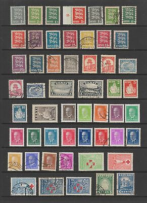 Estonia 1928 - 1940 collection , 75 stamps, MH or fine used