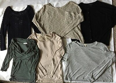 Lot of 6 Womens Medium Sweaters Tops American Eagle Atmosphere Hollister
