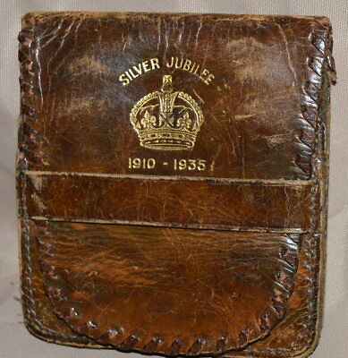 George V Silver Jubilee Leather Coin Purse 1935 Cliftons English Made