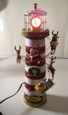 Disney Mr.Christmas Lighted Holiday Lighthouse Tree Topper or Table Display