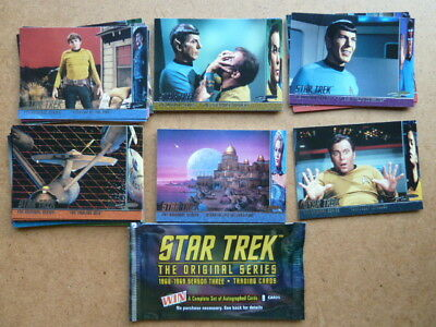 Star Trek The Original Series Season 3 Trading Cards Behind the Scenes x 37 VG