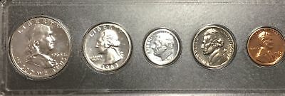 1963 US Silver Proof Set- 5 Coin Set- Silver Coins:Franklin,Washington,Roosevelt