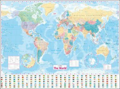 Collins World Wall Laminated Map by Collins Maps 9780008211561