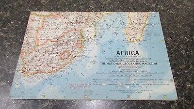 Original September 1960 National Geographic Society AFRICA map