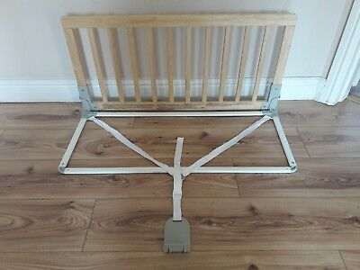 BABYDAN wooden BED GUARD 90cm X 43cm natural VERY GOOD CONDITION