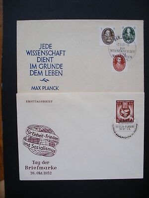 Germany-1952/84 DDR Covers, 4 Covers Used