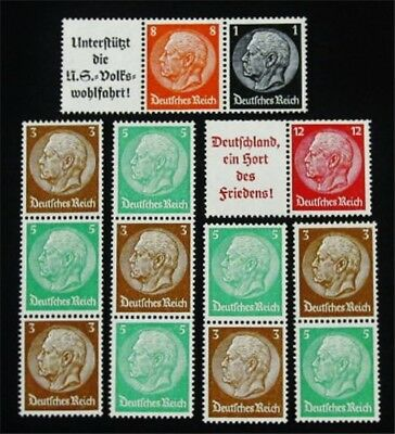 nystamps Germany Stamp # W65 W67 S127 - S130 Mint OG H / NH €37