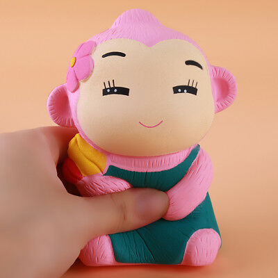 Cute Monkey Jumbo Slow Rising Squishies Scented Squeeze Toy Stress Reliever S