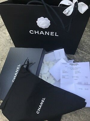 CHANEL Authentic Sturdy cardboard box empty,two dust bags
