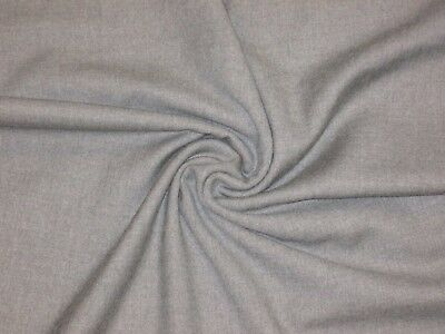 2 yd SHY Gray 100% ENGLISH Wool Twill Suiting Fabric Tailoring Pant Sewing $65y