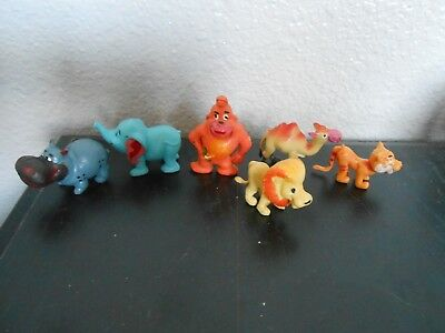 Vintage Hong Kong Plastic Toy Zoo Animals Lot of 6